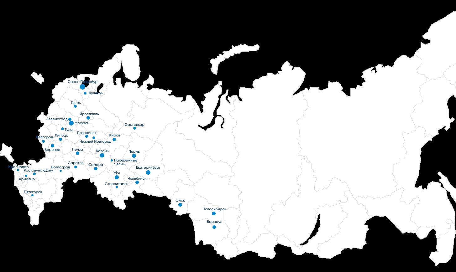 Карта офисов МОНОПОЛИЯ