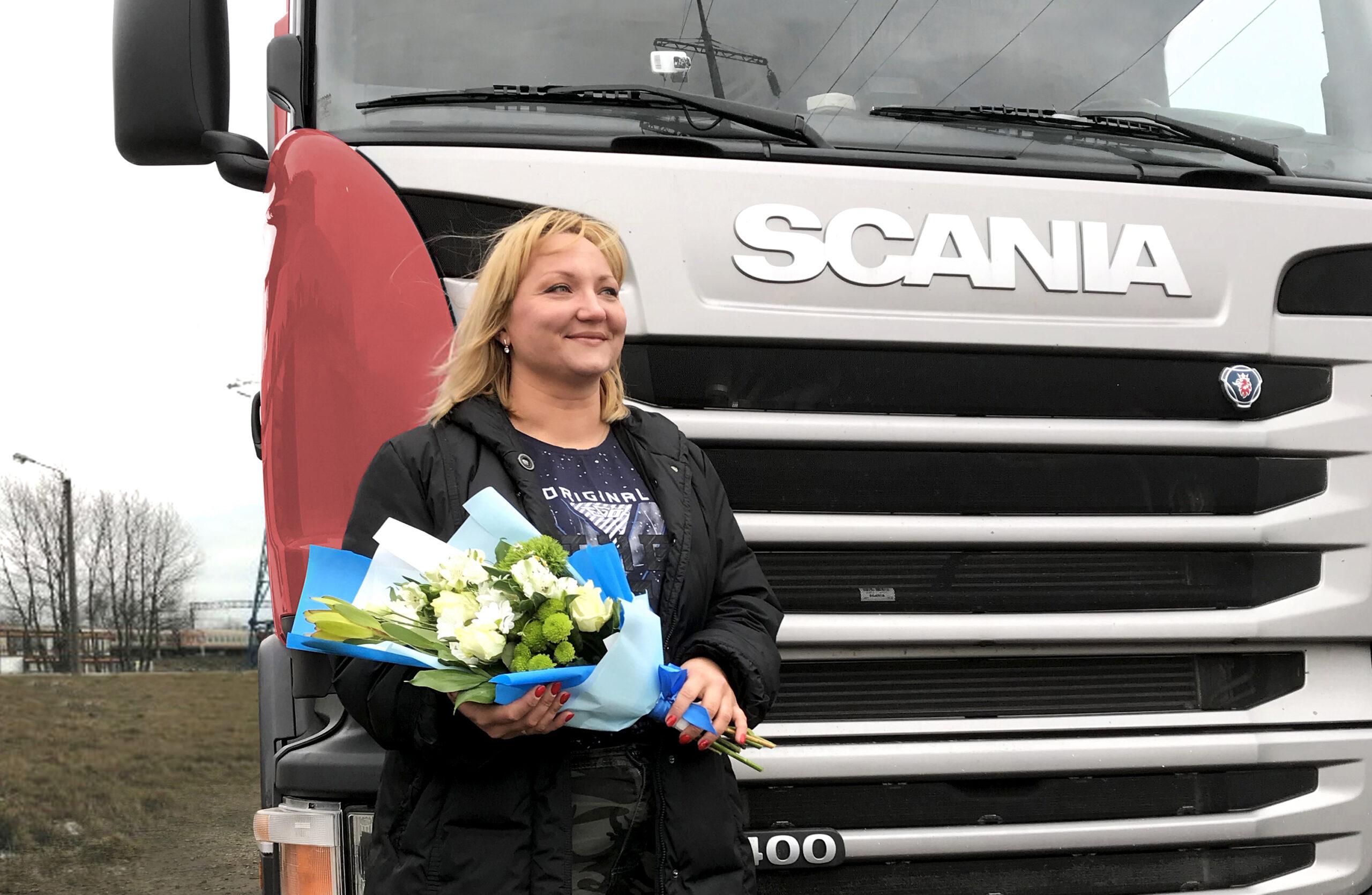 Ольга Зайцева - первая женщина-водитель в ГК «МОНОПОЛИЯ»