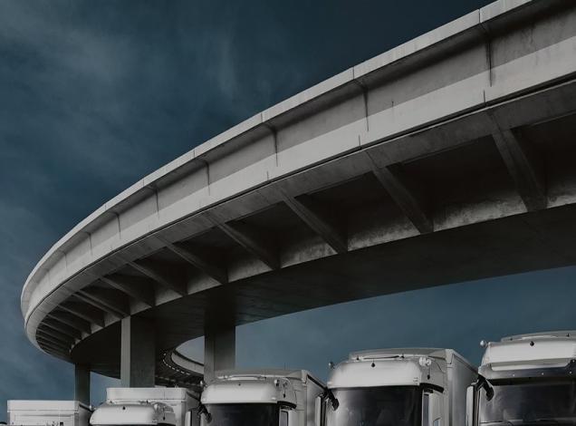 Trucks under the bridge