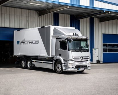 Mercedes-Benz Trucks in Russia together with the management of Daimler Truck AG presented the first heavy electric tractor eActros